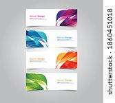 vector abstract banner web... | Shutterstock .eps vector #1860451018