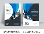 corporate book cover design... | Shutterstock .eps vector #1860456412