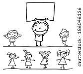 ativo,animação,desenhado,mão,feliz,tinta,saltar,crianças,jardim de infância,movendo-se,múltiplas,berçário,pintura,jogando,cantar
