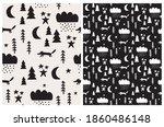 winter forest seamless vector... | Shutterstock .eps vector #1860486148