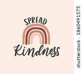 spread kindness inspirational...   Shutterstock .eps vector #1860491575
