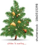 christmas card. christmas tree...   Shutterstock .eps vector #1860515398