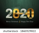 2021 new year card for real... | Shutterstock .eps vector #1860529822