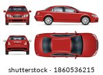 sedan car vector mockup for... | Shutterstock .eps vector #1860536215