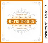 retro typographic design... | Shutterstock .eps vector #186054215