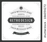 retro typographic design... | Shutterstock .eps vector #186054272