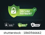 secure payment vector... | Shutterstock .eps vector #1860566662