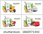 fast delivery by scooter on... | Shutterstock .eps vector #1860571342