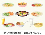 different dishes and main... | Shutterstock .eps vector #1860576712