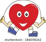 healthy heart | Shutterstock .eps vector #186058262
