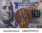 1 Usd Coin With The Image Of...
