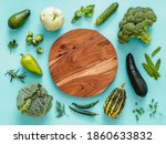 Flat Lay With Green Vegetables...