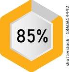 85  hexagon percentage diagram  ...