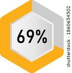 69  hexagon percentage diagram  ... | Shutterstock .eps vector #1860654502