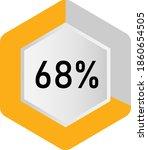 68  hexagon percentage diagram  ... | Shutterstock .eps vector #1860654505