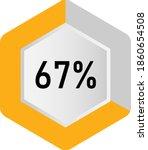 67  hexagon percentage diagram  ... | Shutterstock .eps vector #1860654508