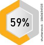 59  hexagon percentage diagram  ... | Shutterstock .eps vector #1860654535