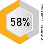 58  hexagon percentage diagram  ... | Shutterstock .eps vector #1860654538