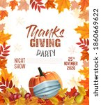 happy thanksgiving flyer with... | Shutterstock .eps vector #1860669622