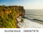View Of A Cliff In Bali...