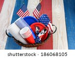 high angle photo of a picnic... | Shutterstock . vector #186068105