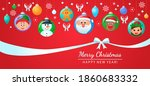 greeting card  christmas poster ... | Shutterstock .eps vector #1860683332