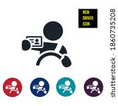 new driver icon stock... | Shutterstock .eps vector #1860735208