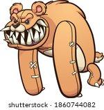 evil monster teddy bear with... | Shutterstock .eps vector #1860744082