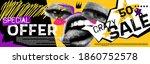 discounts vector collage grunge ...   Shutterstock .eps vector #1860752578