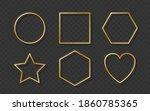 golden border frame set with...   Shutterstock .eps vector #1860785365