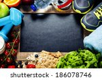 different tools for sport and... | Shutterstock . vector #186078746