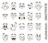 cartoon faces. caricature comic ... | Shutterstock . vector #1860795478