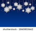 Snowflakes Background. Papercut ...