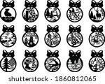 15 christmas balls tree...   Shutterstock .eps vector #1860812065