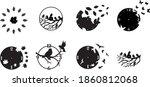 5 pattern set clock watches...   Shutterstock .eps vector #1860812068