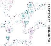 dandelion flowers unusual... | Shutterstock .eps vector #1860815968