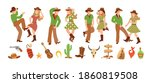 set of young man and woman in... | Shutterstock .eps vector #1860819508