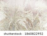 Blurred Winter Pale Pink Floral ...