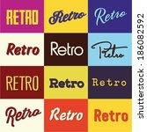 retro type heading selection | Shutterstock .eps vector #186082592