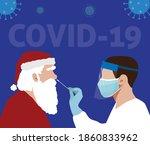 coronavirus covid 19 testing...   Shutterstock .eps vector #1860833962