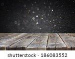 Wood Board And Dark Bokeh...