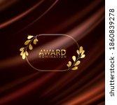 golden winner laurel wreath...   Shutterstock .eps vector #1860839278