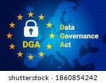 data governance act   dga.... | Shutterstock .eps vector #1860854242