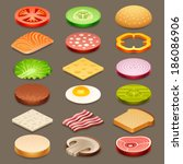slice food | Shutterstock .eps vector #186086906