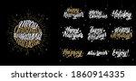 """happy holidays""  ""merry... | Shutterstock . vector #1860914335"