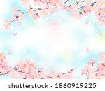 cherry blossoms in full bloom... | Shutterstock .eps vector #1860919225