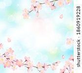 cherry blossoms in full bloom... | Shutterstock .eps vector #1860919228