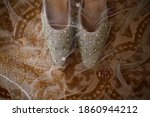 Grey Wedding Shoes With...