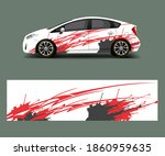 car decal vector  graphic... | Shutterstock .eps vector #1860959635