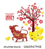 happy chinese new year 2021 of... | Shutterstock .eps vector #1860967948